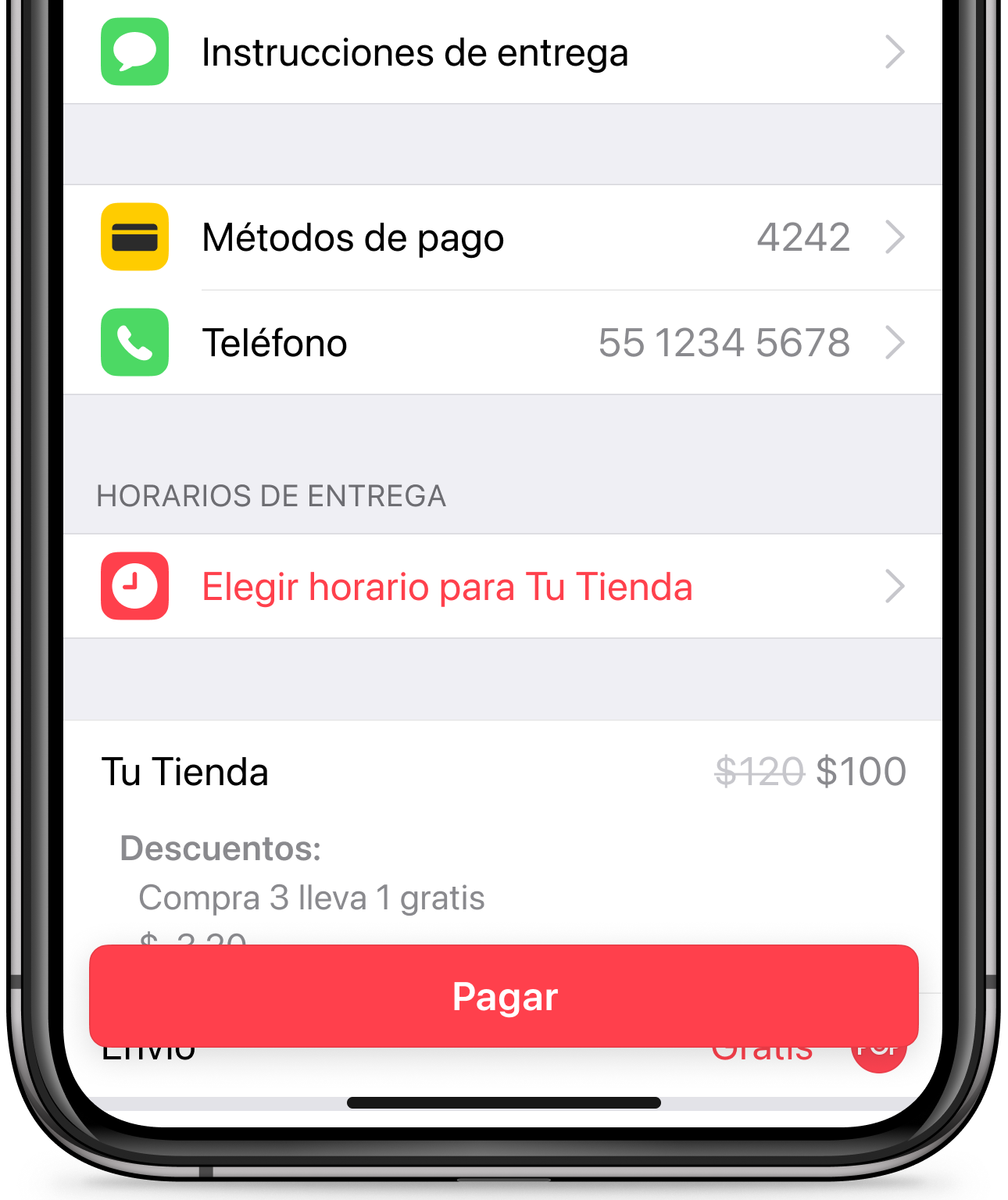Haciendo un pedido desde la app de Cornershop
