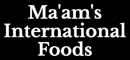 Logo Ma'am's International Foods