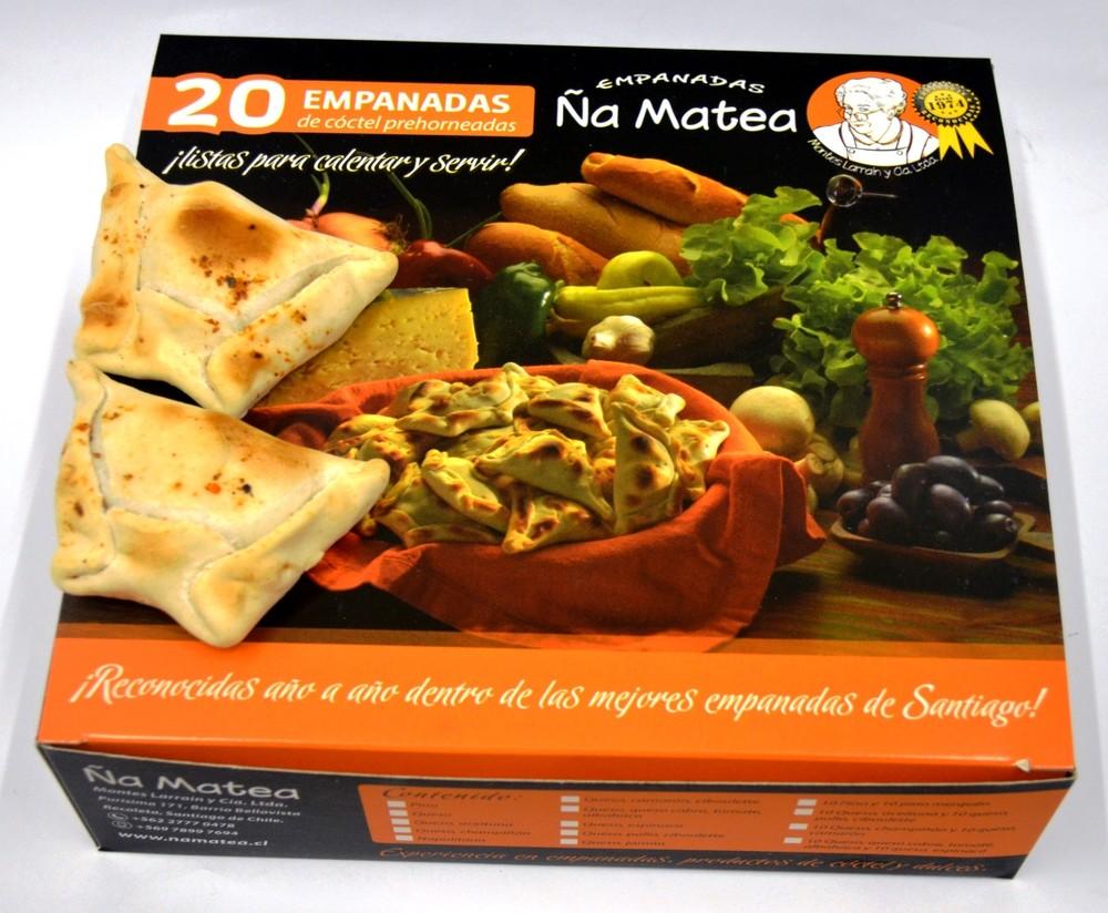 Empanadas de cóctel premium surtidas de pino y pino merquén 20 unidades de 40 gr. aprox. cada una