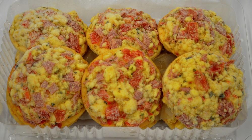 Pizzetas napolitanas queso jamón tomate 12 unidades en envase plástico