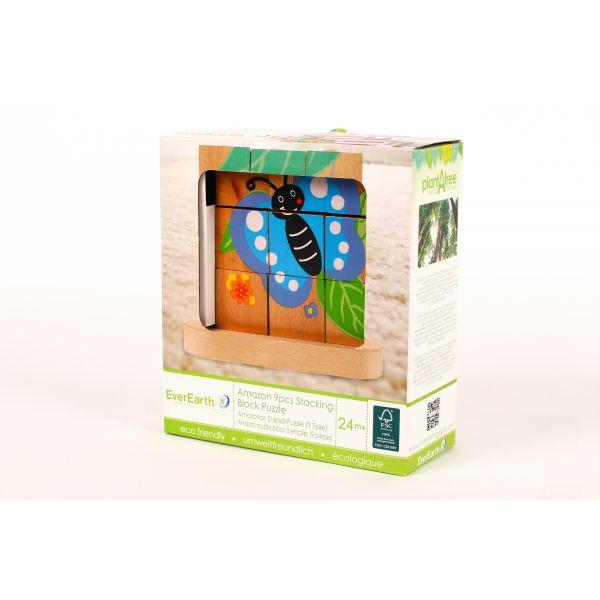 "Puzzle apilable ""de oruga a mariposa"" 9 piezas"